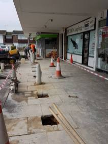 Putting in bollards at havengore Chelmsford6