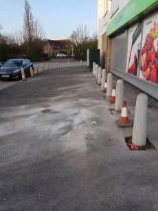Putting in bollards at havengore Chelmsford8