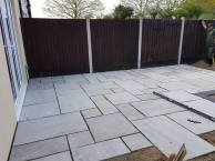 Removal of existing patio crushed concrete has been laid and levels have been made( St Nicholas Road Tillingham)4
