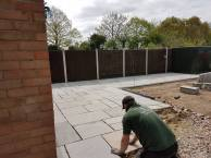 Removal of existing patio crushed concrete has been laid and levels have been made( St Nicholas Road Tillingham)6