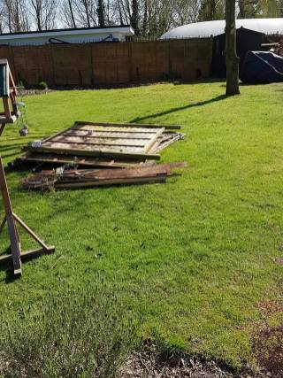 Taking down existing boundary fence3