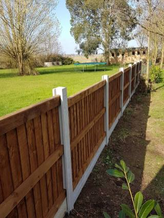 Taking down existing boundary fence4