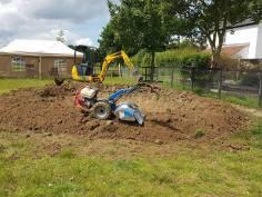 Digging out a pond goldhanger Maldon 6