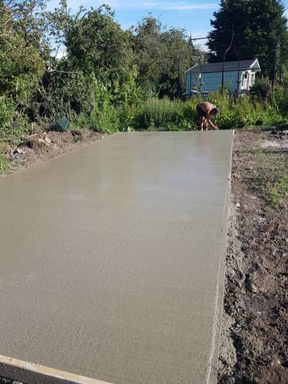 Pouring concrete - dengie marshes 5
