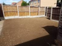 Rotavating existing garden Basildon preparing to lay turf 3