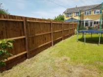 Taking down existing boundary fence all materials taken from site( althorne) Close board fence made on site 3
