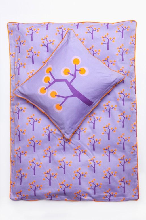 Junior Bedding – Graphic Tree Purple. Organic Cotton Size 100×140 Euro 47