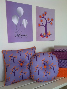 Organic pillows with print