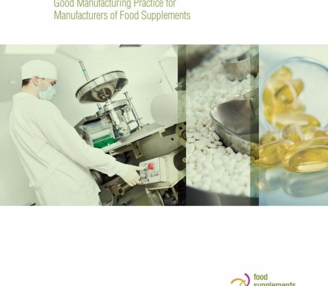 Good Manufacturing Practice for Manufacturers of Food Supplements – PDF Download