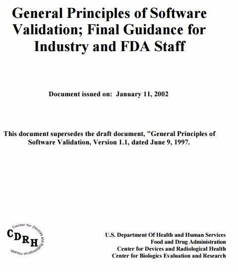 General Principles of Software Validation; Final Guidance for Industry and FDA Staff – PDF Download