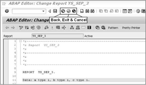 SAP ABAP – Screen Navigation