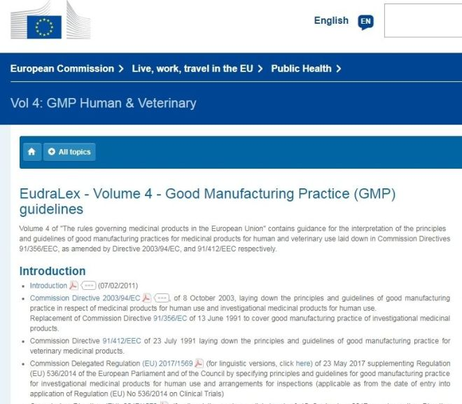 EudraLex – Volume 4 – Good Manufacturing Practice (GMP) guidelines – Free PDF download
