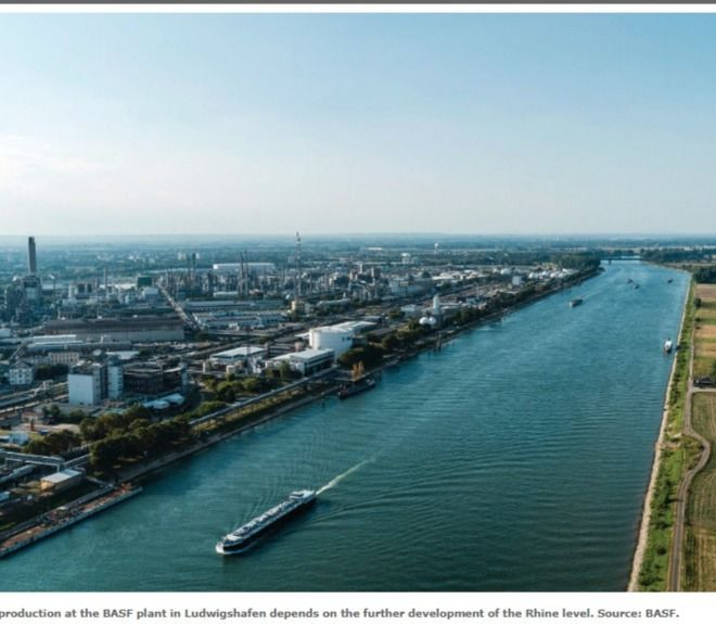 TDI production –  historically low level of the Rhine (Germany)