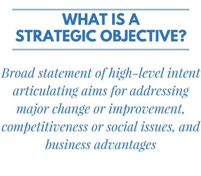 56 Strategic Objective Examples