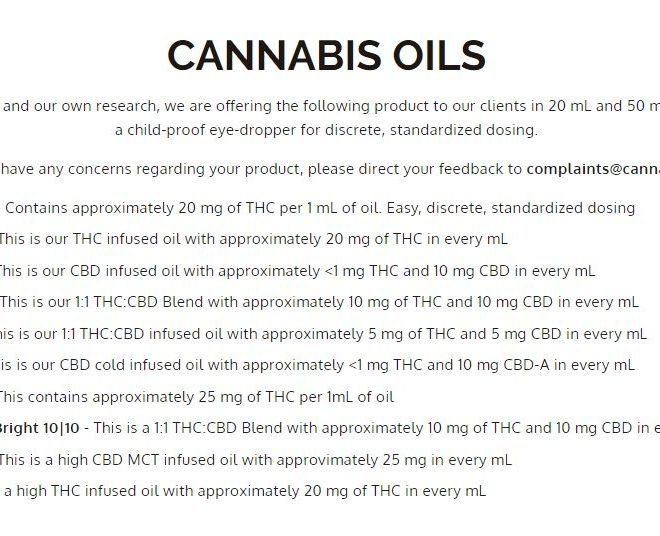 CANNABIS OILS TYPES and PRICES