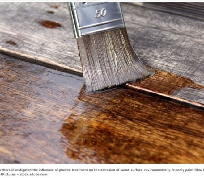 Improved adhesion of environmentally friendly paint film on wood