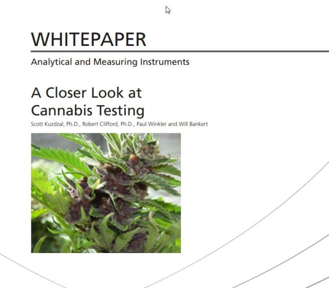 A Closer Look at Cannabis Testing