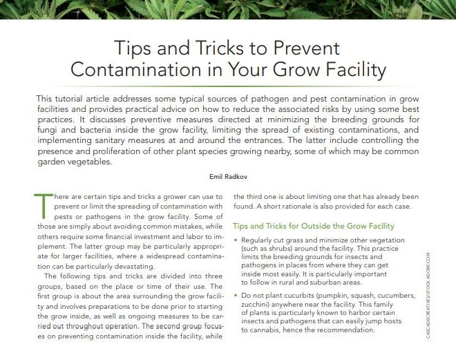 Tips and Tricks to Prevent Contamination in Your Grow Facility