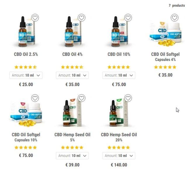 CBD OIL PRICES – examples