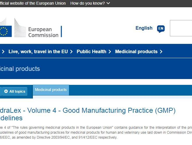GMP for medicinal products for human and veterinary use laid down in Commission Directives 91/356/EEC