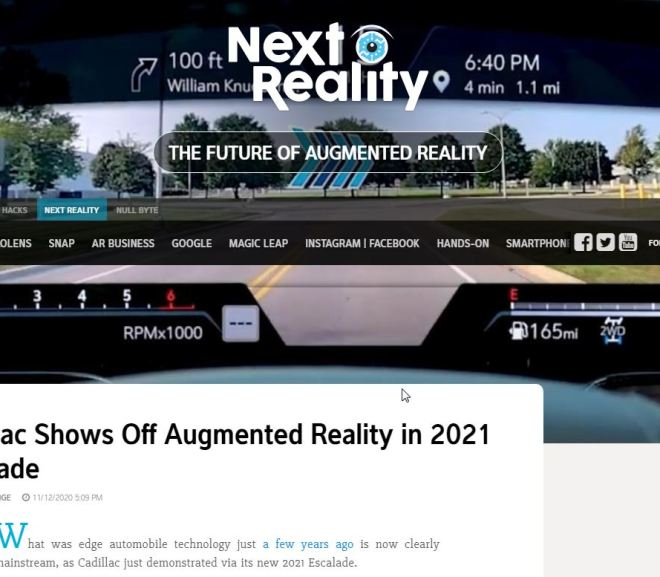 Cadillac Shows Off Augmented Reality in 2021 Escalade
