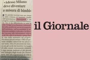 IL GIORNALE - 11 Maggio 2016 - Adesso Milano deve diventare a misura di bimbi