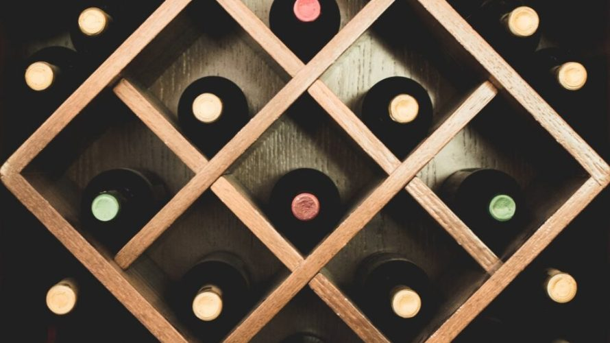 close up photo of brown wine rack