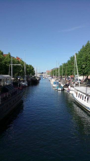Looking along the canal