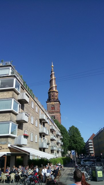 The spire of the Church of Our Saviour - Vor Frelsers Kirke