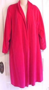 pink velvet coat