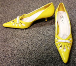 Yellow stilettos