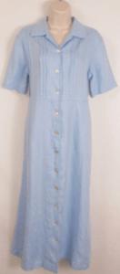 blue linen Orvis dress