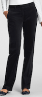 black velveteen trousers