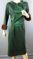 Green lurex suit