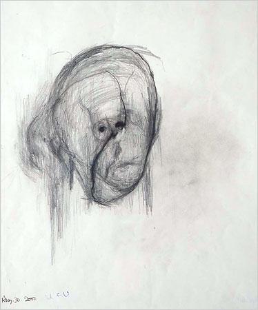 William Utermohlen self portrait 2000