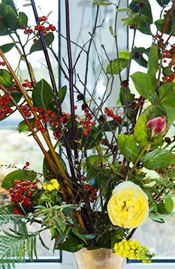 Xmas bouquet close-up