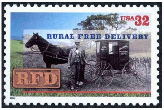 Rural Delivery Stamp 1996