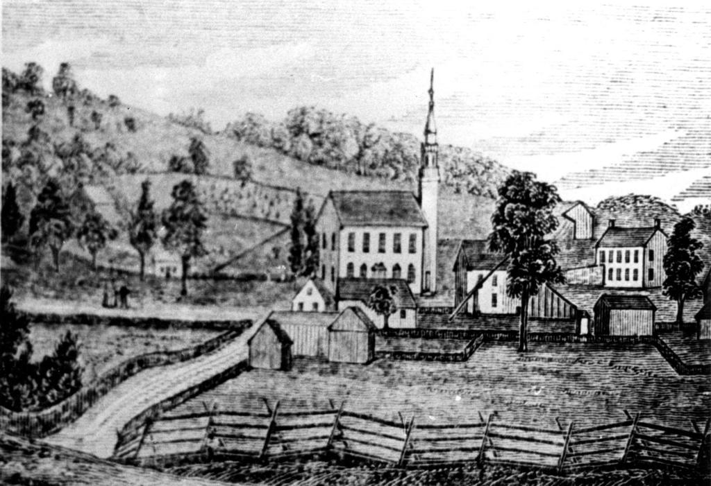 Congressional Church landscape drawing
