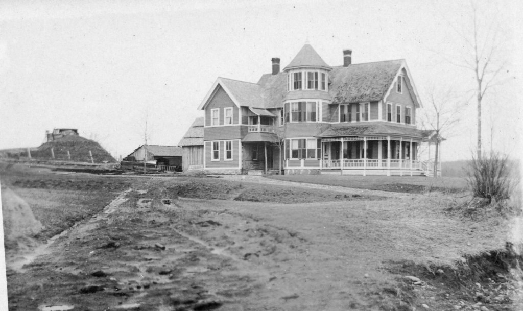 Herbert Chappell House during dam construction
