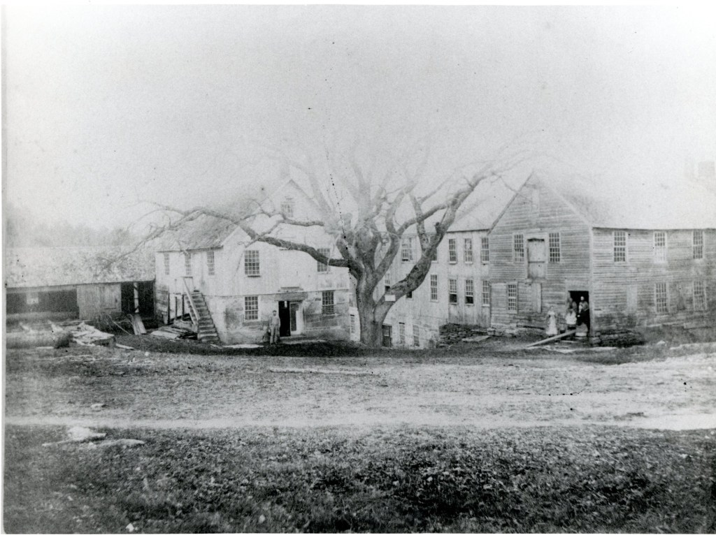 The original Mansfield Hollow mill buildings