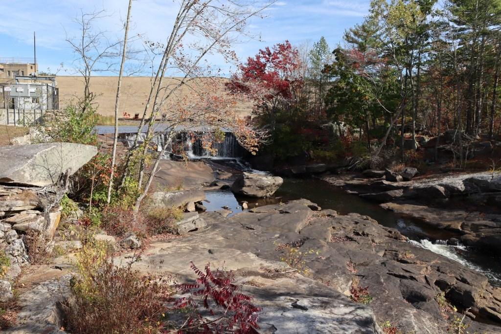 Mansfield Hollow flood control dam and original Natchaug River Dam present day