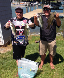 Ryan Fluharty (left) and Josh Grassi  (right) at Smith Mountain Lake.