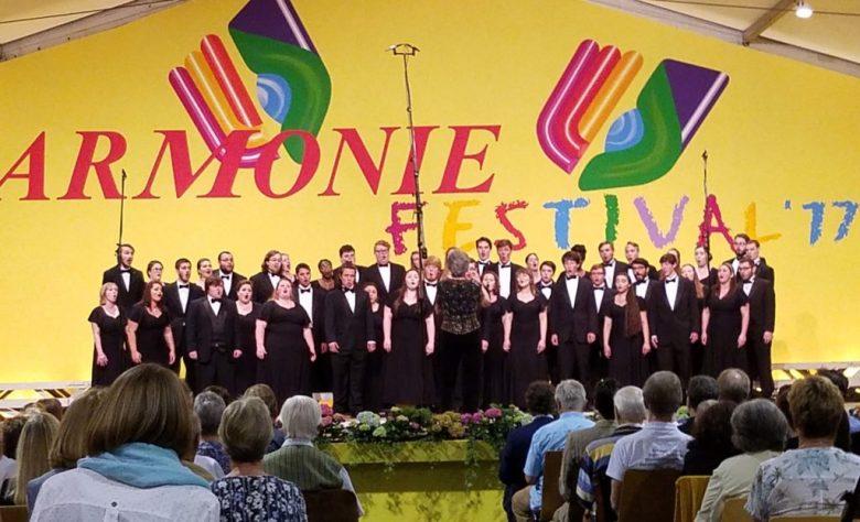 The MU Concert Choir performing at the 2017 Harmonie Festival.