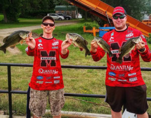 (L-R) Kyle Zindell and Jason Heyer finished 29th in the Chautauqua Lake Tournament.