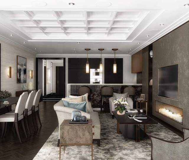 Designed By Sophie Paterson This Home In The The W London Features Art Deco Inspired Shagreen Finishes And A Blend Of Gold And Brass Architectural Light