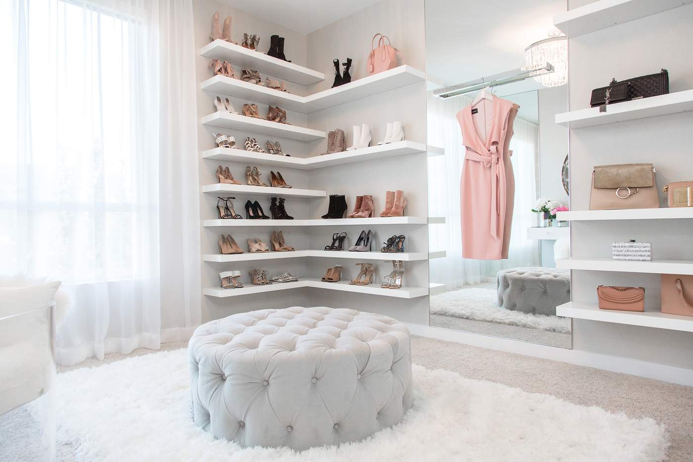 The Top 8 Home Design Trends in 2018   Mansion Global This walk in closet designed by Lisa Adams of LA Closet Design features a  chic staging area that s social media ready  Photography Courtesy of LA  Closet
