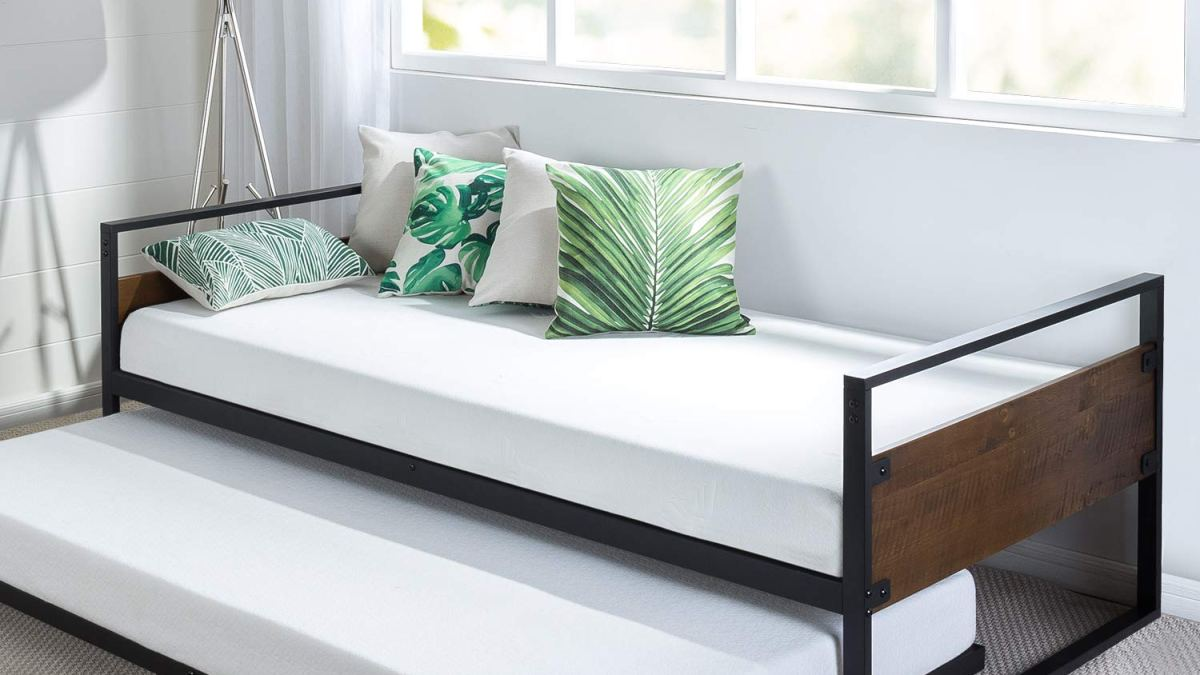 Review Zinus Ironline Twin Daybed And Trundle Frame Set