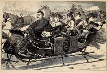 Winslow Homer (1836–1910). Christmas Belles. Wood engraving from Harper's Weekly, January 2, 1869