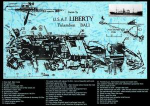 USAT Liberty dive map, bali