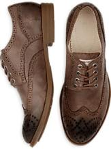 Calvin Klein distressed leather wing tips